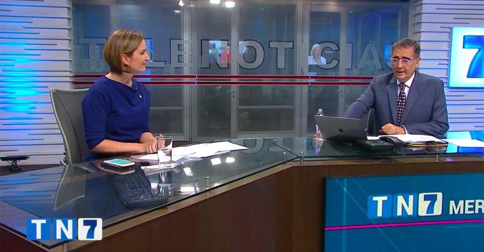 Teletica Channel 7 News on April 20, 2020. (Screenshot.)